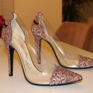 TOO FACED Better Than Sex Pink Glitter Heels 8